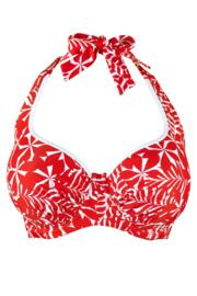 Fiesta Halter Underwired Top - Red/White