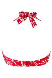 Fiesta Halter Underwired Top - Red/White