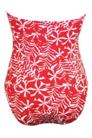 Fiesta Control Swimsuit - Red/White