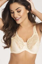 Jacquard Full Coverage Bra - Champagne