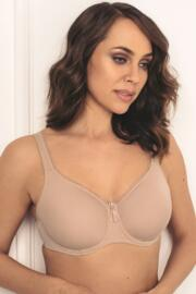 Grace Soft Moulded Cotton Underwired Bra - Champagne