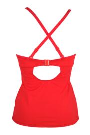 Mardi Gras Underwired Padded Tankini Top - Red