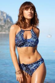 Barracuda Ring Neck Underwired Top - Black/Blue