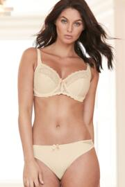 Eden Side Support Underwired Bra - Oatmeal