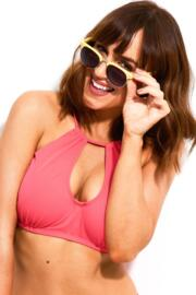 Pool Party Ring Neck Underwired Top - Coral