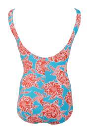 Big Sur Control Swimsuit - Turquoise/Orange