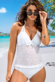 Puerto Rico Underwired Tankini Top - White