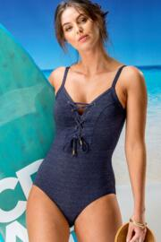 Barcelona Rope Swimsuit - Navy