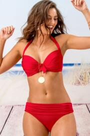 Azure Padded Underwired Clasp Back Top - Red
