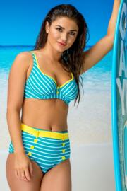 Starboard Underwired Top - Turquoise/Lemon