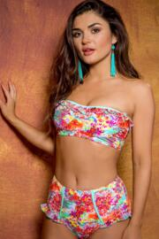 Santorini Strapless Underwired Top - Multi
