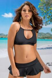 LBB Ring Neck Underwired Top - Black