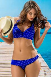 Hot Spots Halter Underwired Top - Ultramarine