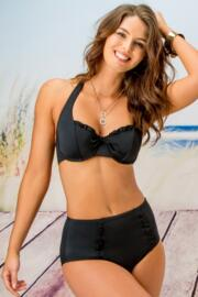 Getaway Halter Underwired Top - Black