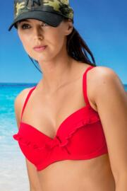 Getaway Padded Convertible Underwired Top - Red