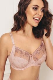 Imogen Rose Embroidered Bra - Pink/Mink