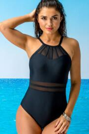 Beach Bound High Neck Swimsuit - Black
