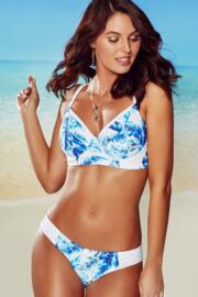 Reef Longline Underwired Top - Blue/White