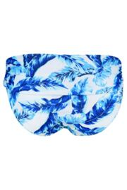 Reef Foldover Brief - Blue/White