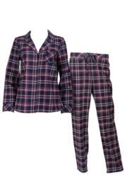 Moonstruck Check Pyjama - Navy/Red Check