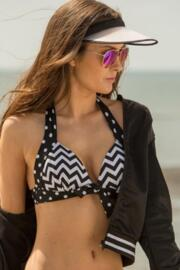 Key West Dual Cup Halter - Black/White