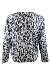Idlewild Tie Front Long Sleeve Top - White/Black