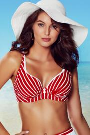 Starboard Underwired Top - Red/White