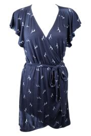 Best Friend Jersey Wrap Dress - Navy