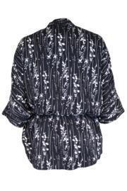 After Dark Kimono Wrap Top - Black/White