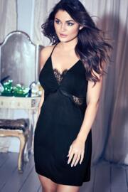 Sofa Loves Lace Chemise - Black