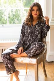After Dark Pyjama Set - Black/White