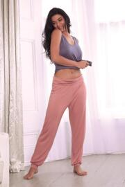Sofa Love Foldover Cuffed Trouser - Dusky Pink