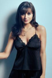 Dusk Satin Camisole - Black
