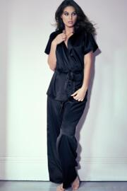 Dusk High Waist Wide Leg Trouser - Black
