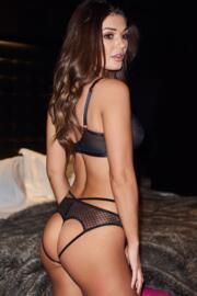 Illicit Open Back Brief - Black