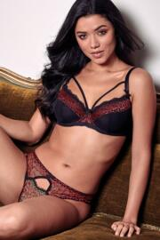 Roar Underwired Bra - Black/Red