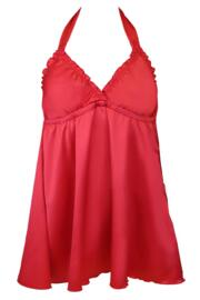 All Wrapped Up Halter Tie Chemise - Red