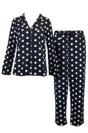Cosy Spot Pyjama Set - Black/Cream