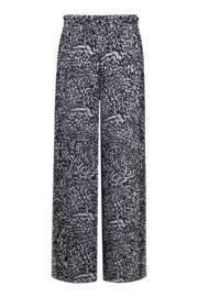 Mixology Split Wide Leg Trouser - Black/White