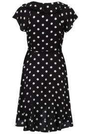 Hot Spots Wrap Dress - Black/White