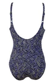 Odyssey Scoop Neck Control Swimsuit  - Thunderstorm