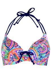 Bohemia Halter Triangle Underwired Top - Multi