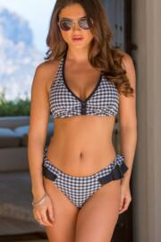 Checkers Frill Brief - Black/White