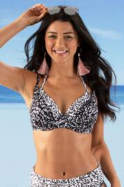 Mixology Underwired Double Strap Top - Black/White