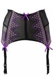 Spellbound Suspender - Black/Purple