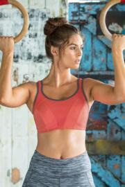 Energy Non Wired Full Cup Sports Bra - Coral