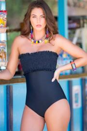 Free Spirit Removable Straps Control Swimsuit - Black