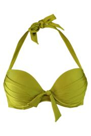 Azure Halter Lightly Padded Underwired Top - Mojito