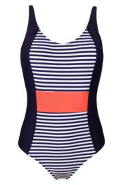 Sea Breeze Control Swimsuit - Navy/Coral
