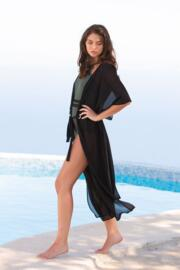 Beach Bound Maxi Kimono - Black